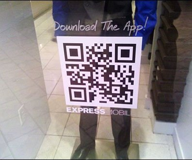 QR Code Window Decal