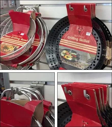 Cookware 90º Double-Hooked Slatwall Display