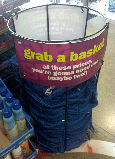Mesh Hoop Shopping Basket