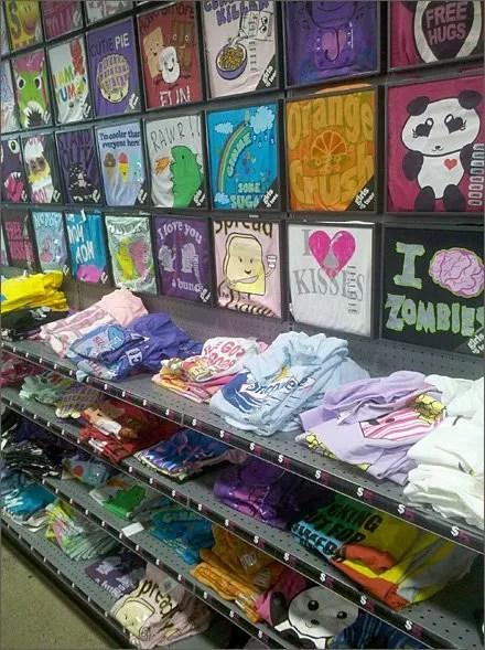 Pegboard Pocket Frames for T-Shirts