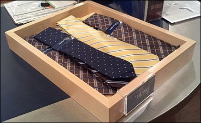 Wood Tray for Necktie Cashwrap