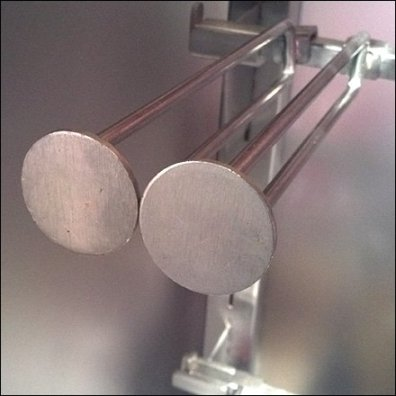 Twin Disk Finial Hooks Naked