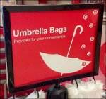Umbrella Bag Stand As Retail Amenity