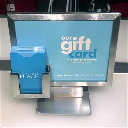 Gift Card Sign Pocket Detail