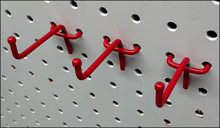 Red 90 Degree Ball End All Wire Hooks