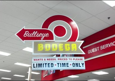 Bodega Department Target Sign