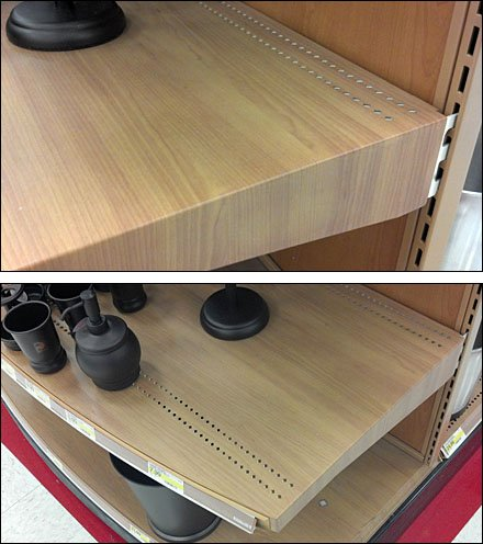 Wood-Grain Shelf Overlay