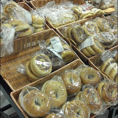Bagels in Wicker Baskets Main