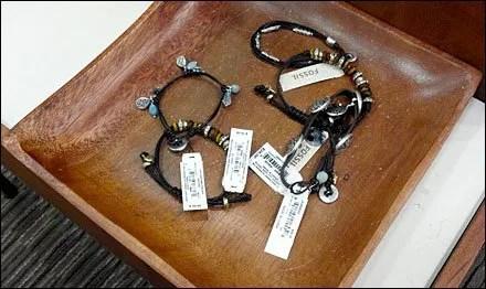 Bracelets in a Bowl Closeup