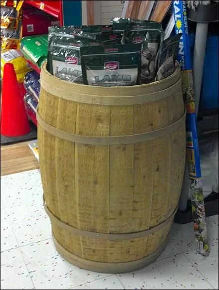 Full Barrel as Bulk Bin