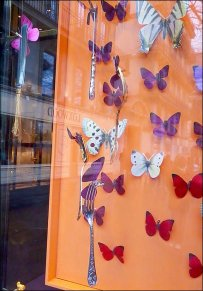 Butterflies As Spring Storefront