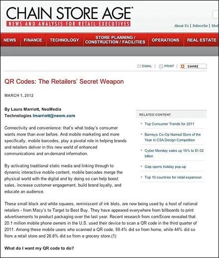 QR: Retailer's Weapon Redirect