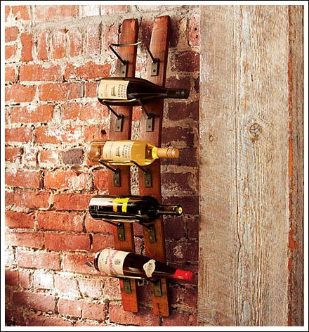 Barrel Stave Wine Rack Has Retail Uses