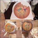 Wood Pegged Cookies Table-Top Display