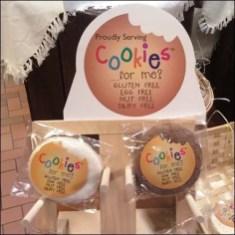 Cookies on Wood Pegs Closeup