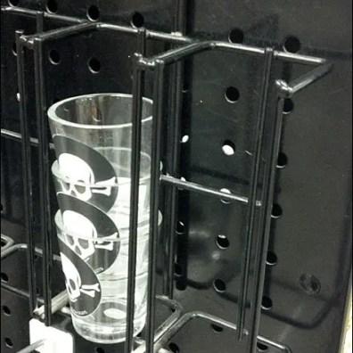 Shot Glass Pegboard Rack