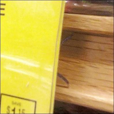 Wood C-Channel Signholder Closeup