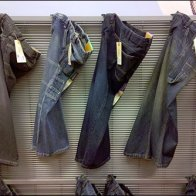 Jeans Threaded THrough Fly Main