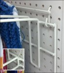 Hinge-Mount Mop Rack for Pegboard