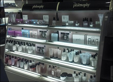 Shelf-Edge Philosophy of The Philosophy Brand
