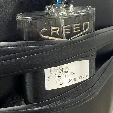 Dress Form Bondage Creed Fragrance Closeup