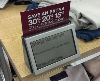 Shelf Edge Digital Electronic Promo Sign