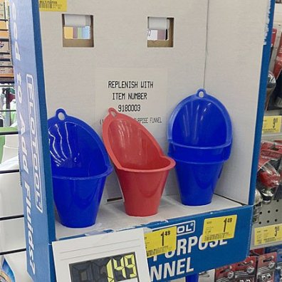 Funnel Temporary POP Display Main