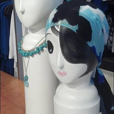 Whimsical Headform Scarf Tie Main