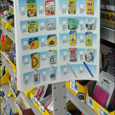 Back to School List on a Merchandiser Strip