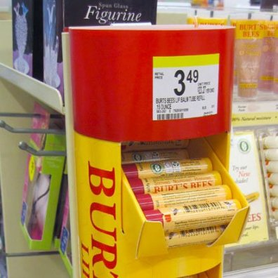 Burts Bees Temporary POP Display Closeup