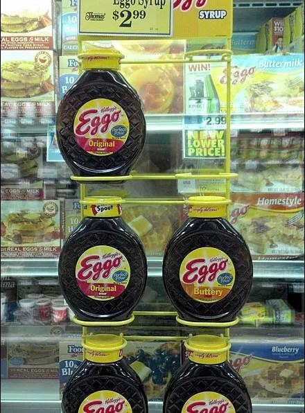 Eggo Syrup Over-Door Cooler Merchandiser