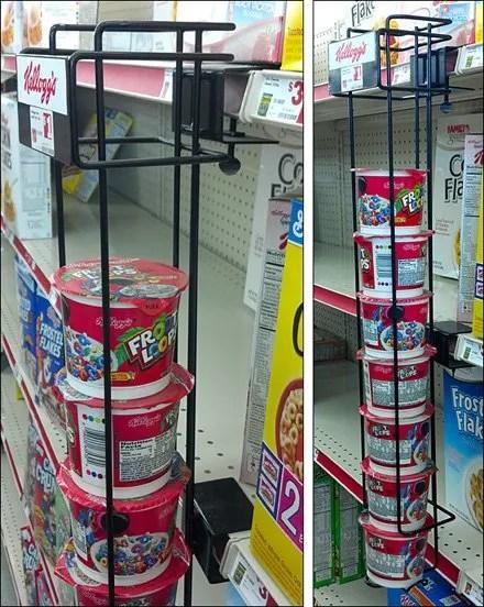 Kellogg's Shelf-Edge Gravity-Feed