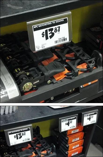 Glue-On Under-Shelf Label Holder