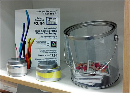 Clear Paint Can Offers Samples