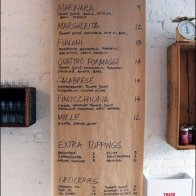 Pizza Dinner Menu on Brown Paper Main