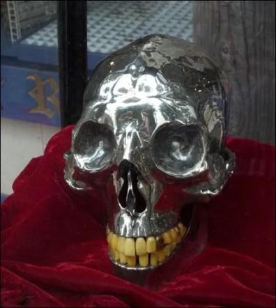 Silver Skull for Halloween