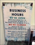 Complicated Business Hours Sign