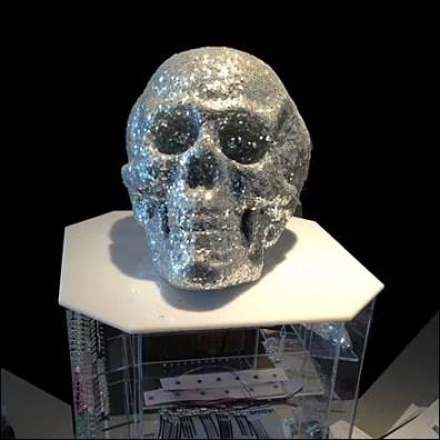 Rhinestone Skull Detail Closeup
