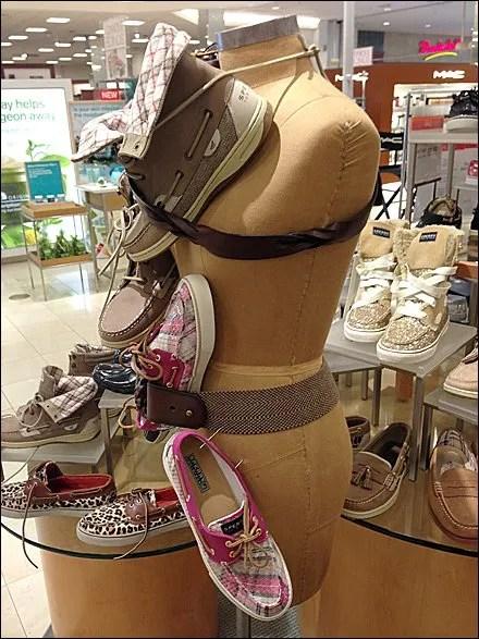 Dress Form Walk Over Shoe Display