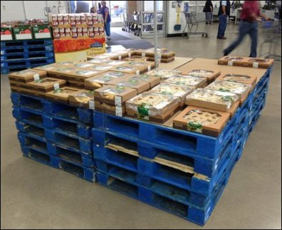 Bakery Runneth Over Entrance Pallet Display