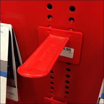 Custom Perforated Metal Display Pattern Plastic Hook