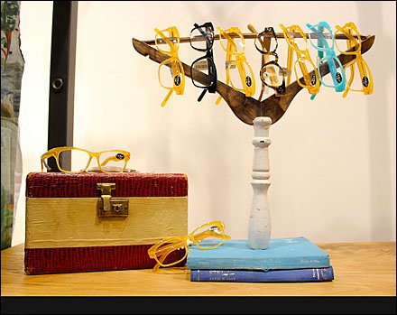 Eyewear on Inverted Clothes Hanger All