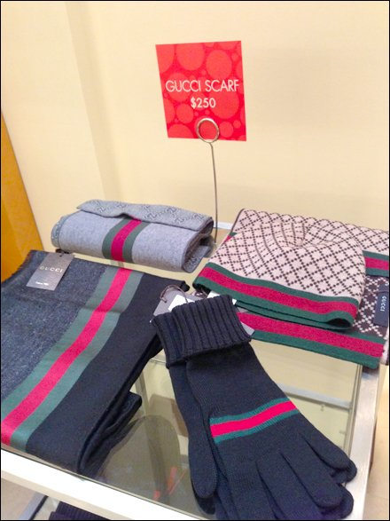 Gucci Scarf Only $250 Sign Stand