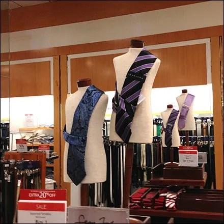 Necktie Bandolier Dress Forms