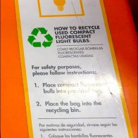 Recycling CFL Bulbs No Tubes Details