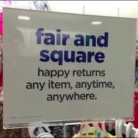 Fair and Square Item Returns Aux