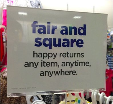 Fair and Square Item Returns Aux