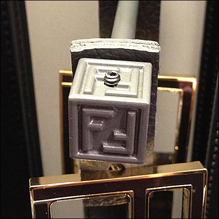 Fendi Finial Logos Closeup 2