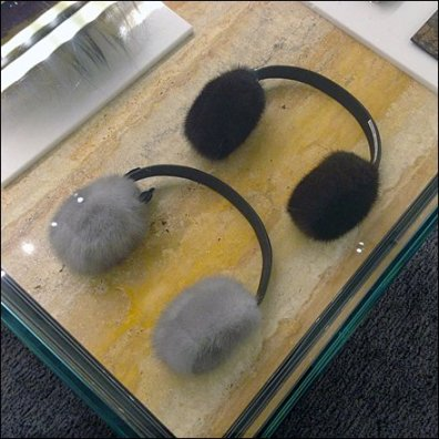 Fendi Mink Earmuffs CloseUp