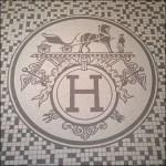Hermes Logo as Tile Mosaic